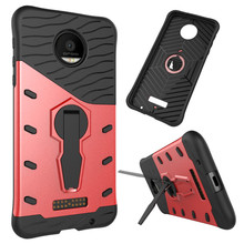 "For Motorola Moto Z Force 5.5"" Phone Case Shockproof 360 rotating swivel bracket Netted heat dissipation Armor Phone Case Cover"