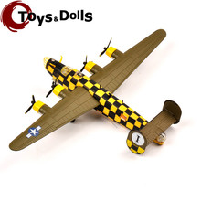 Collectible RV-MODEL 1/144 Fighter Model WWII USA B-24 Liberator Bomber Military Diecast Airplane Model Aircraft Kids Toys Gifts