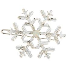 1pc Fashion Snowflake Gold Silver Flower Hairpin Vintage BB Hair Pin Women Hair Clip Jewelry Elegant Accessories(China)