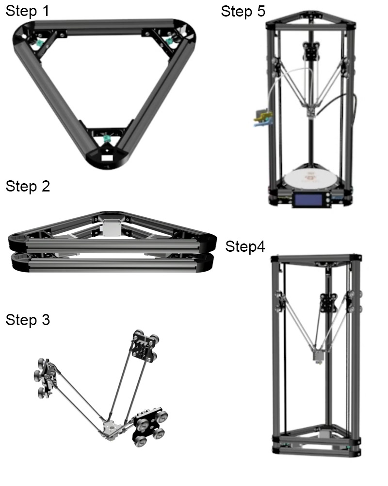 HE3D Kossel K280 Large Delta 3D Printer Kit