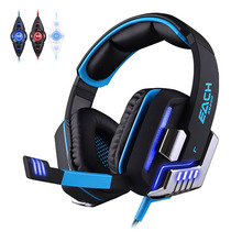 Each G8200 Professional Gaming Headset Headphones for Computer 7.1 Surround Sound Vibration Function with Mic Glowing Headphone