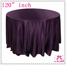 15pcs 120'' Round Satin  Tablecloths for Weddings round linen tablecloth