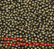 Free Shipping Antique Bronze Smooth Ball Spacer Beads Pick Size 2/2.4/3/4/5/6/8/10mm in Dia. Jewelry Making Findings Wholesale(China)