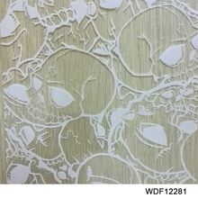 WDF12281 Decorative Material 10 square Width 1m skull water transfer printing hydrographics printing film