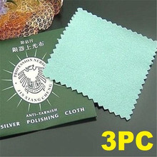 FD5195 new Silver Gold Jewelry Polishing Cleaner Cleaning Cloth Beauty Tool 3PCs