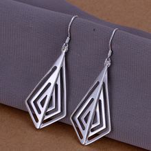 2015new 925 sterling silver smooth crystal design  pendant earring for women lady's fashion jewerly factory wholesale