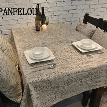 PANFELOU Romantic Gray thick easy to clean text poetic trend kitchen table cloth tea table cloth cover towel cloth(China)