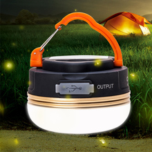 Mini Portable Camping Lights 10W LED Camping Lantern Waterproof Tents lamp Outdoor Hiking Night Hanging lamp USB Rechargeable(China)