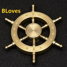Bloves Ship Wheel Heavy Finger Spinner Metal Anti Stress Fidget Spinner Top Spinner Toy Hand Spinner for Kids Puzzle With CE