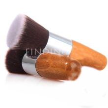 Professional Makeup Brush Flat Top Brush Foundation Powder beauty Brush Cosmetic Make up brushesTool Wooden For mac Makeup Brush(China)