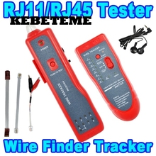 KEBETEME New Multifunction RJ45 RJ11 Cable Wire Tracker Telephone Network Phone Generator Tester Diagnose Tone Networking Tools(China)