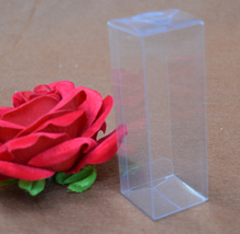 size 4*4*10CM box pvc transparent packaging/ clear plastic PVC packing boxes
