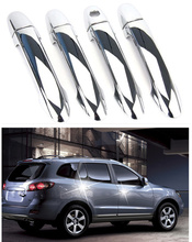 FUNDUOO New ABS Chrome Door Handle Cover trim For Hyundai Santa Fe 2007 2008 2009 2010 2011 2012 Free Drop Shipping(China)