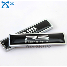 Car Styling Decoration R3 Racing Sport For Proton Elise Persona Automobile Accessories 2 Pcs Badge Emblem Side Door Sticker(China)