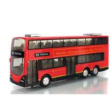 In Stock Sale 1:43 Mini Alloy Car Pull Back London Double-Decker Bus Toy Cars Model Toys For Children Can Open Door(China)