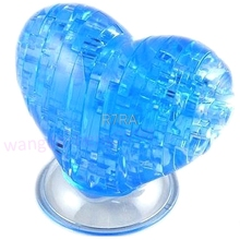 2017 HOT 3D Crystal Puzzle Jigsaw Model Souptoy Gadget Love Heart IQ Toy Furnish DIY Gift MAY11_35