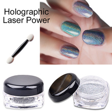 1g/box Colorful Laser Mirror Powder Unicorn Holographic Rainbow Gradient Powder Neon Glitter Dust Chrome Sequins Nail Art(China)