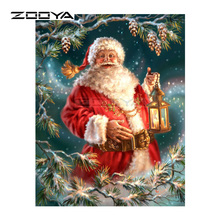 ZOOYA Diamond Embroidery DIY Diamond Painting Christmas Santa Tree Lights Diamond Painting Cross Stitch Rhinestone Mosaic BK104(China)