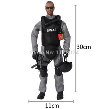 16PCS/SET Special Force Soldier Military Action Figure Dolls SWAT Soldier With Rifle Accessories Military police soldiers toys#N