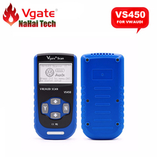 Original VGATE SCAN VS450 for Audi for VW CAN OBDII OBD2 Auto Code Reader Diagnostic tool Reset Oil Airbag ABS Diagnostic-tool