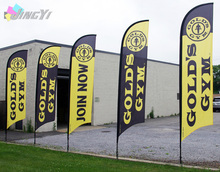 Outdoor beach flag / Promotion flags/ Printed your logo/300x70cm 2pcs with Free shipping