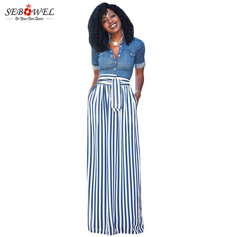 Light-Blue-Striped-Maxi-Skirt-LC65037-4-2