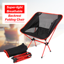 Portable Folding Chair Beach Seat Lightweight Seat For Hiking Fishing Picnic Barbecue For Vocation Casual Camping Fishing Red(China)
