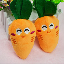 New 1 Piece Cat Toys Pet Puppy Chew Squeaker Squeaky Plush Sound Cute Carrot Designs Toys Pet products(China)