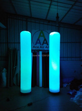 Attractive  Led Inflatable Lighting Led Pillars Party Lights for Decoration