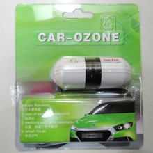 car air purifier car ionizer ozone car air freshener oxygen bar with retail packing ,free shipping wholesale(China)