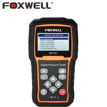 FOXWELL DPT701 Car Engine Compression Measure Fuel Oil Pressure Tester Petrol Injection Diesel Common Rail Test 80 Bar Manometer(China)