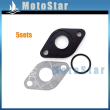 5 sets Intake Manifold Inlet Pipe Gasket For GY6 50cc Engine Carburetor Znen Jmstar SUNL Baotian Chinese Moped Scooter(China)