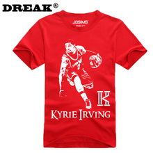 2016 Summer Cavalierse Kyrie Irving Short-sleeved T-shirt custom bodybuilding jersey college jersey bodybuilding t shirt(China)