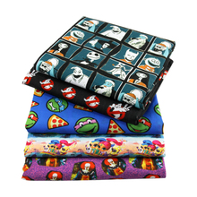 50*145CM cartoon movie printed Polyester cotton fabric for Tissue Kids Bedding textile, DIY handmade materials,1Yc638(China)