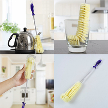 Useful Long Handle Bottle Cleaning Brush Flexible Bottle Brush Thermos Teapot Cleaner Easy Kitchen Cleaning Tools(China)