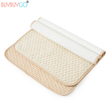 4 Layers 2PCS Natural Colored Cotton Baby Diaper Changing Mats Portable Nappy Changing Cover Waterproof Washable Crib Change Pad