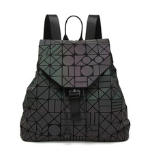 Hot Sale Laser BaoBao Unisex Backpack Women Dazzle Color Plaid Female Fashion Sequins Mirror Free shipping(China)