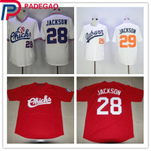 28 Bo Jackson Jersey Chicks Movie jerseys 29 Bo Jackson shirt Auburn Tigers Jersey Stitched Throwback Baseball Jerseys(China)