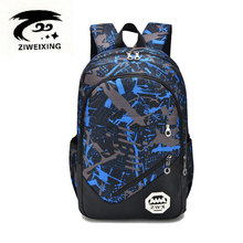 ZIWEIXING 2017 New Camouflag School Backpack for Teenagers Girls Oxford Women Backpacks Preppy Style Waterproof Book Bags Male(China)