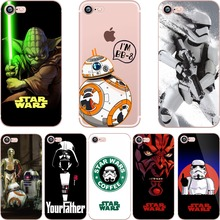 phone cases Star Wars R2D2 BB8 Coffee Stormtrooper Darth Vader soft silicon case cover for Apple iPhone 7 7plus 5S SE 6S 6plus