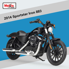 Maisto 1:18 Scale 2014 Sportster iron 883 Alloy Diecast Motorcycle Model For Kids Toys Gifts Birthday Collection Free Shipping