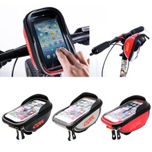 5.5 inch 3 Colors Waterproof Outdoor Cycling Mountain Road MTB Bike Bicycle bag Frame Front Tube Bag for Cell Phone(China)