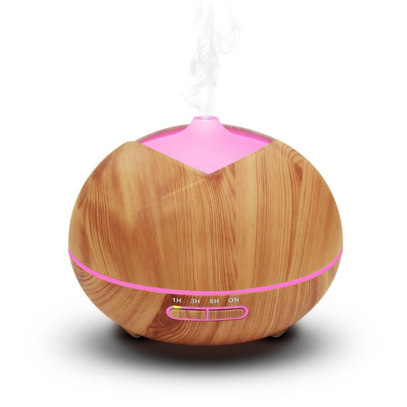 300ml Air Humidifier Essential Oil Diffuser Aroma Lamp Aromatherapy Electric Aroma Diffuser Mist Maker for Office Home Wood<br>