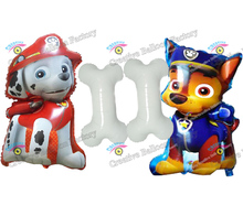 Wholesale Price Dogs Patrol Balloon Bones Balloon Happy Birthday Party Supplies Helium Foil Balloons Toys For Kids Big Size(China)