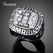 Man's Crystal Sport Ring 1996 University of Florida Rugby Team NCAA Alliance Sugar Bowl Championship Ring For Fans Collection