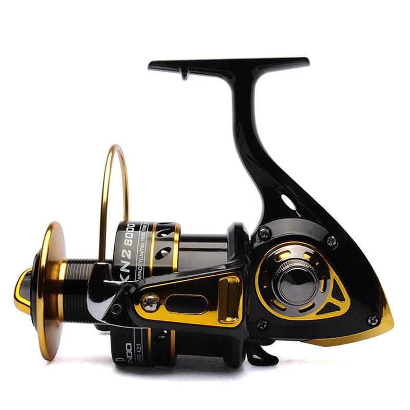 Big game fishing reel spinning reel 8000 11BB 4.2:1 front drag BANDO KN2 Black/Gold saltwater fishing tackle<br>