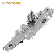 2017 Piececool 3D Metal Puzzle USS ENTERPRISE CVN-65 Aircraft Carrier P083-S DIY 3D Laser Cut Assemble Models Toys For Audit