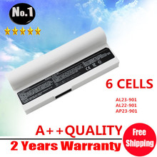 WHOLESALE WHITE laptop battery For Asus Eee PC 901 904 904HD 1000 1000H 1000HA  AL23-901 AL22-901 AP23-901 6CELLS Free shipping