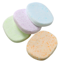 2pcs Soft Facial Cleansing Puff Sponge Makeup Remover Sponge Exfoliating Beauty Cosmetics Tools Face Wash Pad Cleaning Flutter