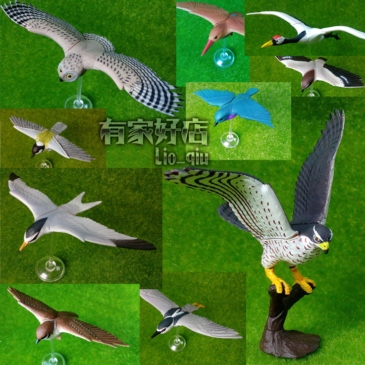 pvc figure Baby animal insert  bird  model toys  10pcs/set Gashapon toy<br><br>Aliexpress